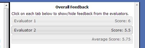evaluator feedback